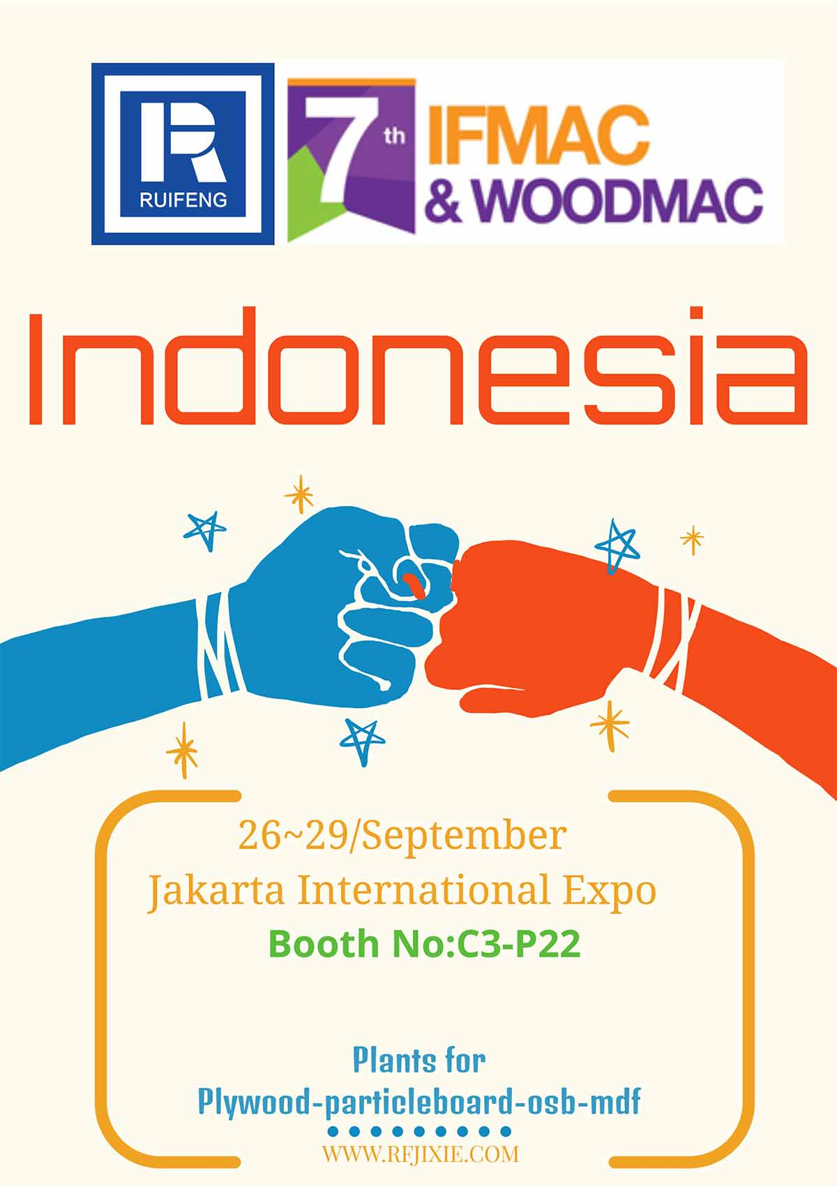 7th IFMAC and WOODMAC exhibition at the Jakarta International Expo, Indonesia